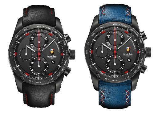 montre noir bleue édition limitée porsche design timepieces federation club porsche france contact